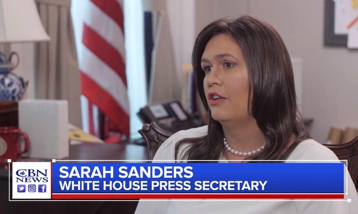 Sarah Sanders, Dio è con Trump: voleva che diventasse presidente