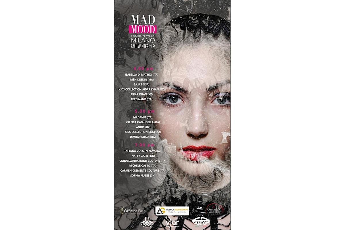 MAD MOOD, Milano Fashion Week, 21 febbraio 2019