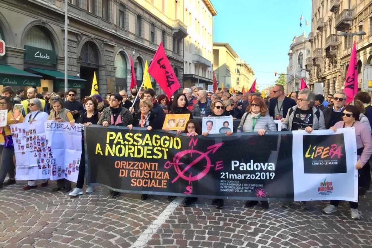 21 marzo, a Padova la 24.esima Giornata della Memoria e dell'Impegno contro le mafie organizzata da Libera