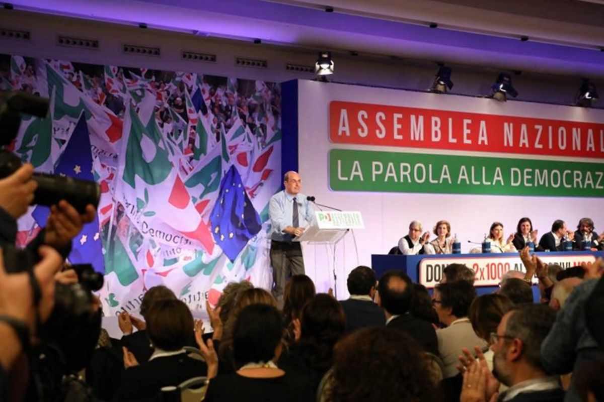 L'Assembela Nazionale Pd nomina Zingaretti segretario, Gentiloni presidente e Zanda tesoriere