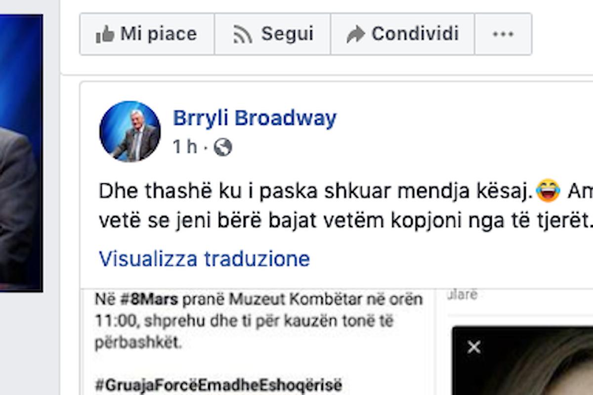 Scandalo in Albania, minacce dal partito di opposizione guidato da Lulzim Basha contro il forum indipendente delle donne