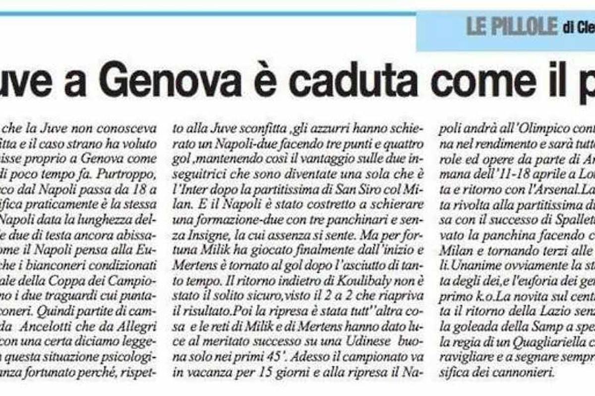 Il Roma crolla come il ponte a Genova, per ben due volte