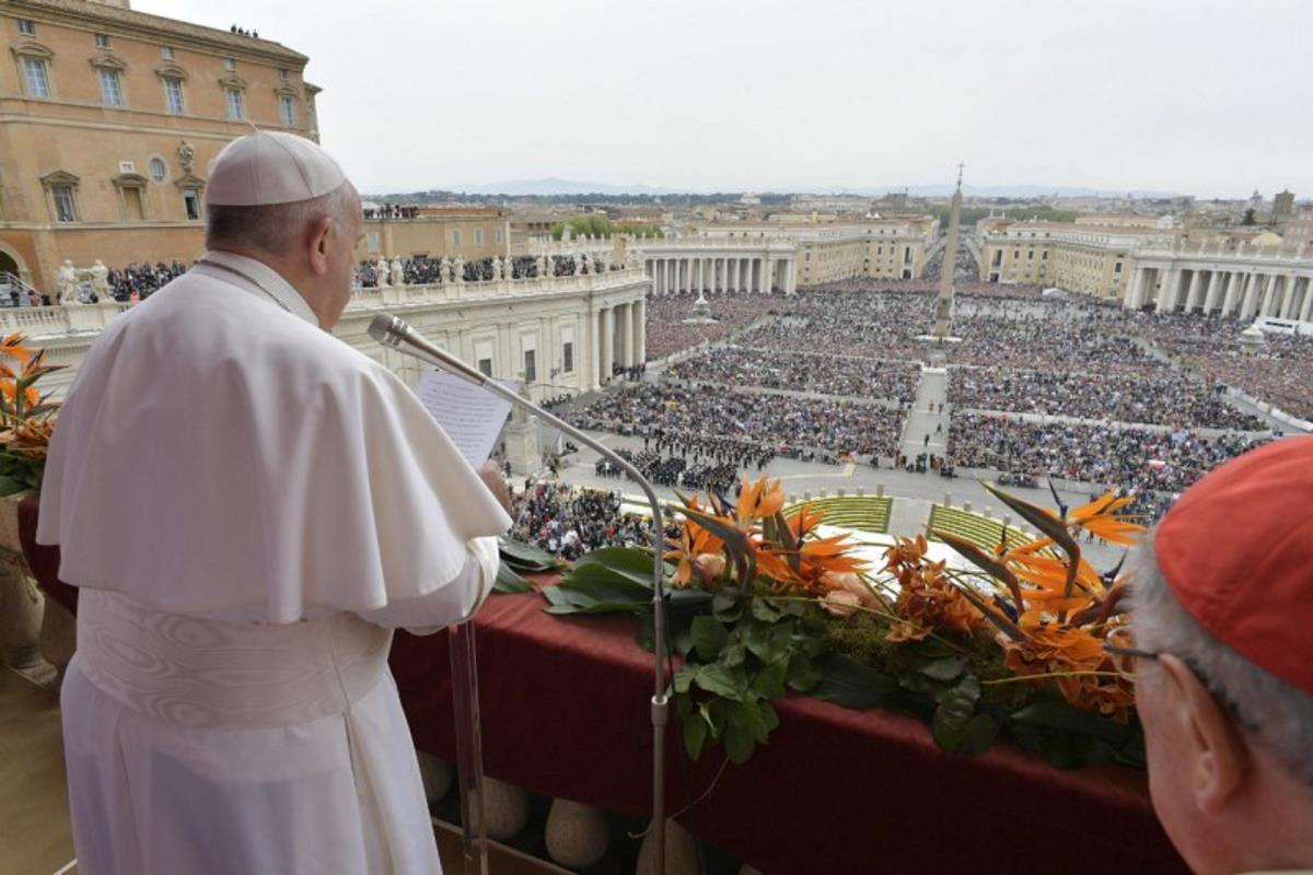 Le parole di Francesco nella benedizione Urbi et Orbi per la Pasqua 2019