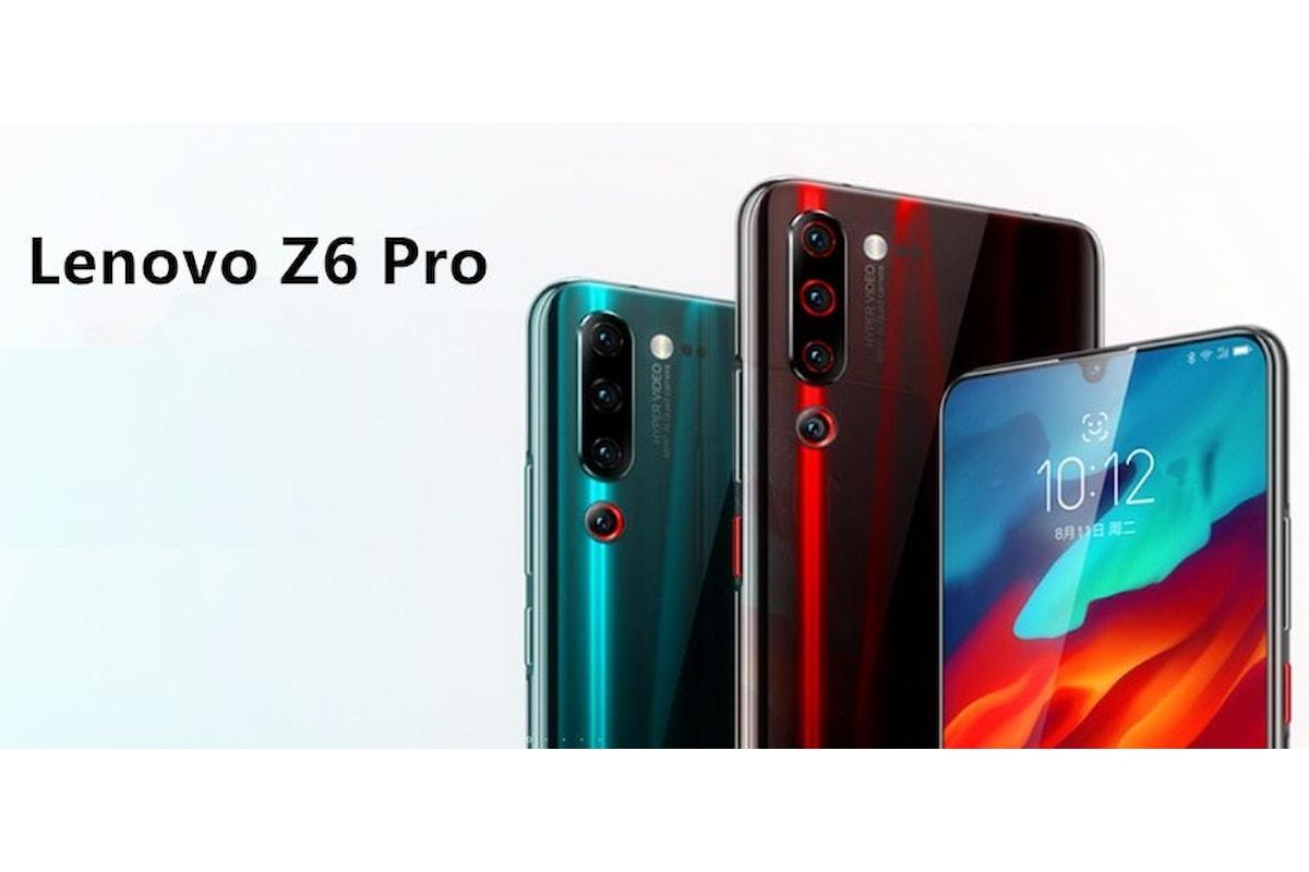 Lenovo Z6 Pro presentato ufficialmente: perfetto per chi ama scattare foto e realizzare video