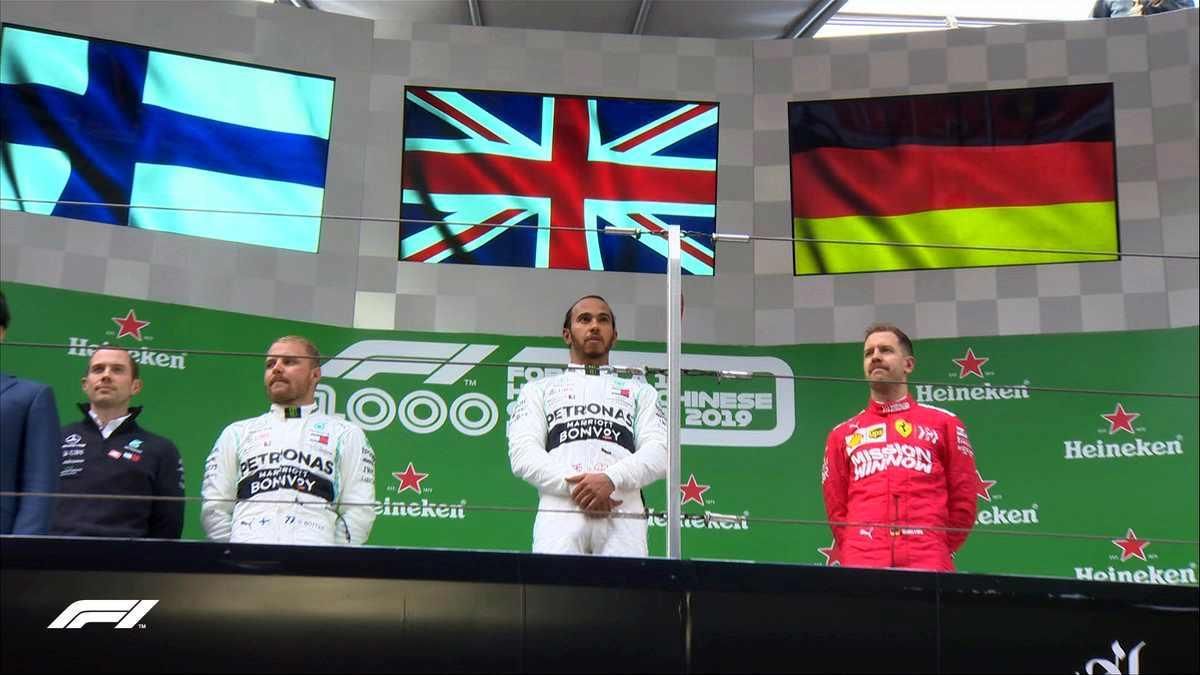 Ancora doppietta Mercedes in Cina con Hamilton che si aggiudica la gara n. 1000 della Formula 1