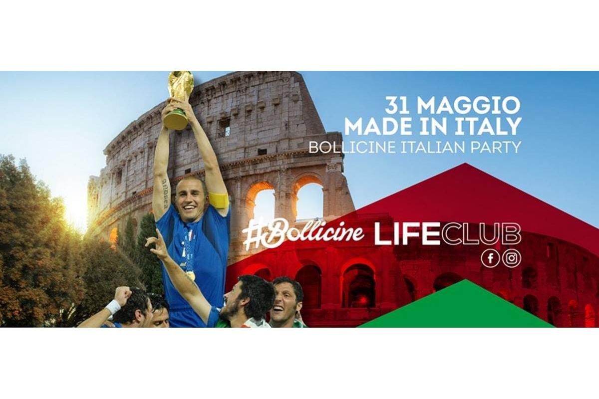 31 maggio Made in Italy, Bollicine Italian party fa muovere Life a Rovetta (BG)
