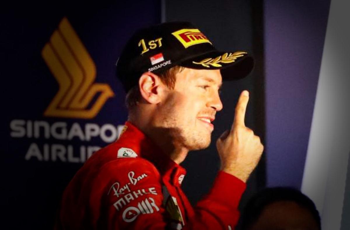 Formula 1, doppietta Ferrari a Singapore con Vettel primo davanti a Leclerc