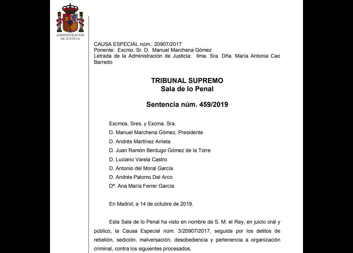 Gli indipendentisti catalani condannati fino a 13 anni di carcere dalla Corte Suprema spagnola