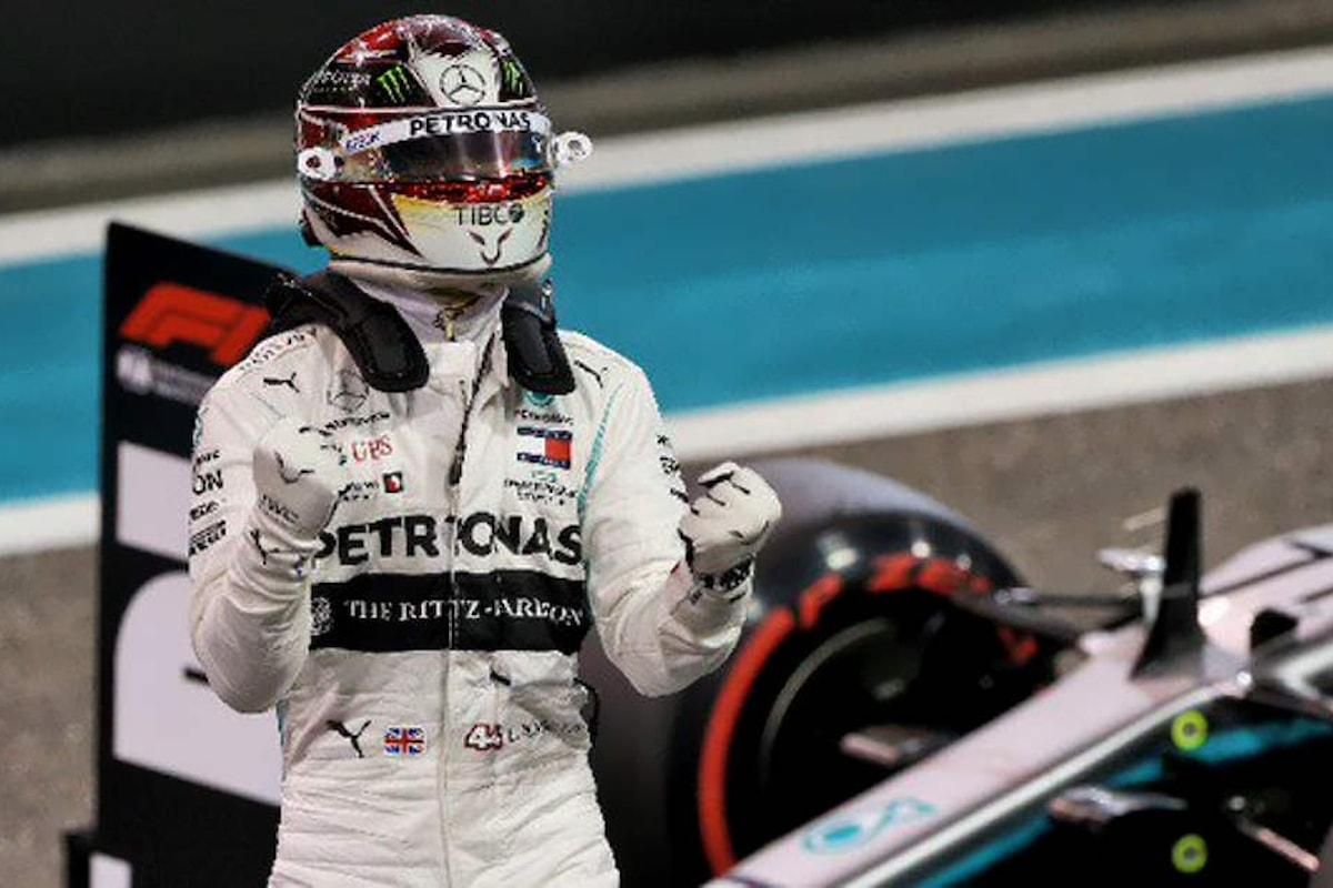 Formula 1: ad Hamilton anche la pole di Abu Dhabi, l'ultima della stagione 2019