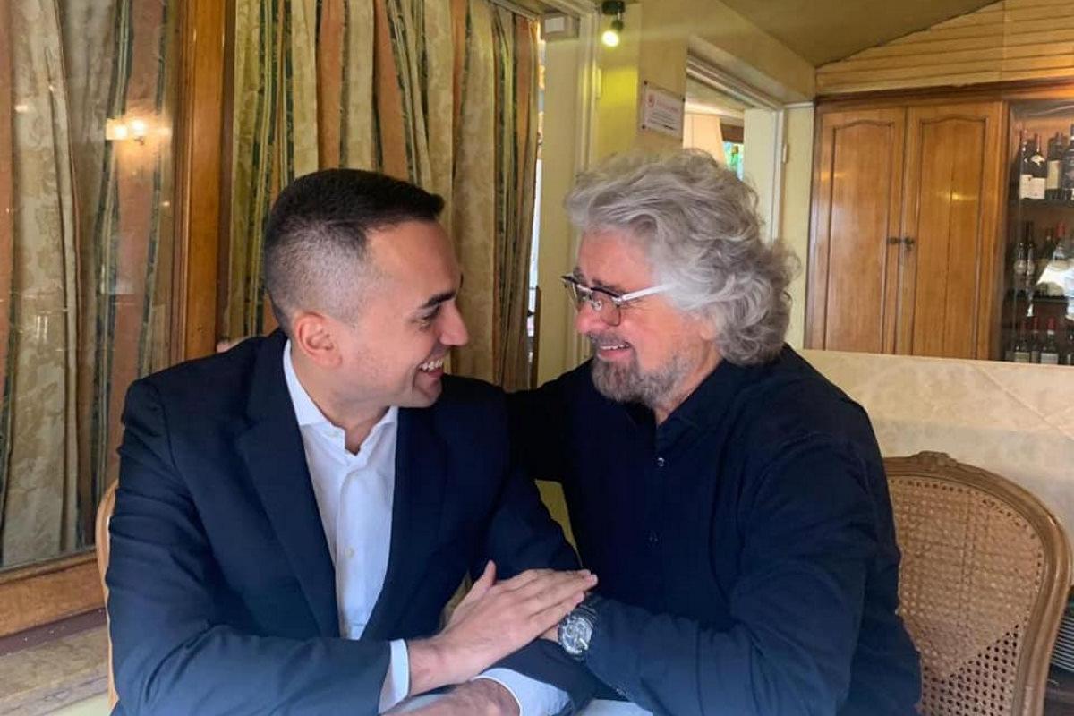 Grillo incontra Di Maio per confermargli il suo sostegno, ma tra le righe...