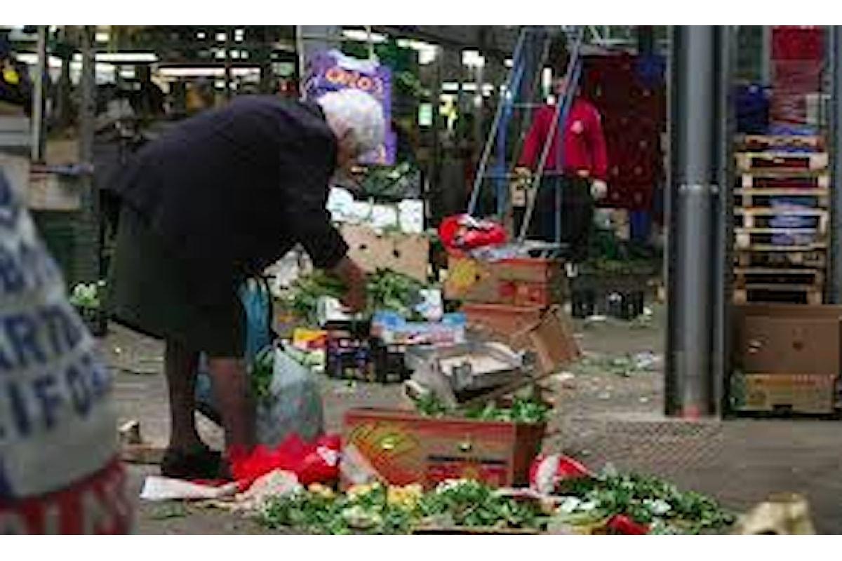 Ho visto un'anziana donna raccogliere scarpe nella spazzatura e un vecchietto raccogliere una mela a terra. Questa non è l'Italia che mi piace