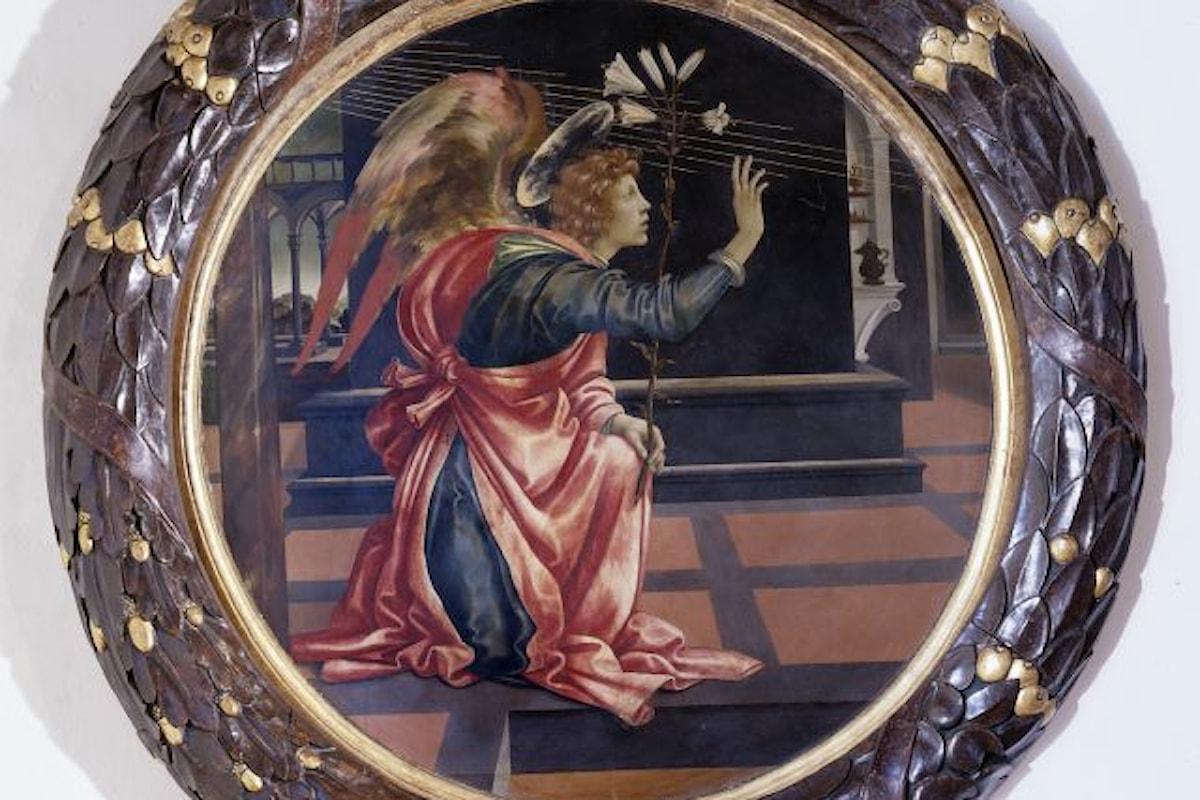 """""""L'Annunciazione"""" di Filippino Lippi: il capolavoro protagonista della mostra di natale in sala Alessi a Palazzo Marino"""