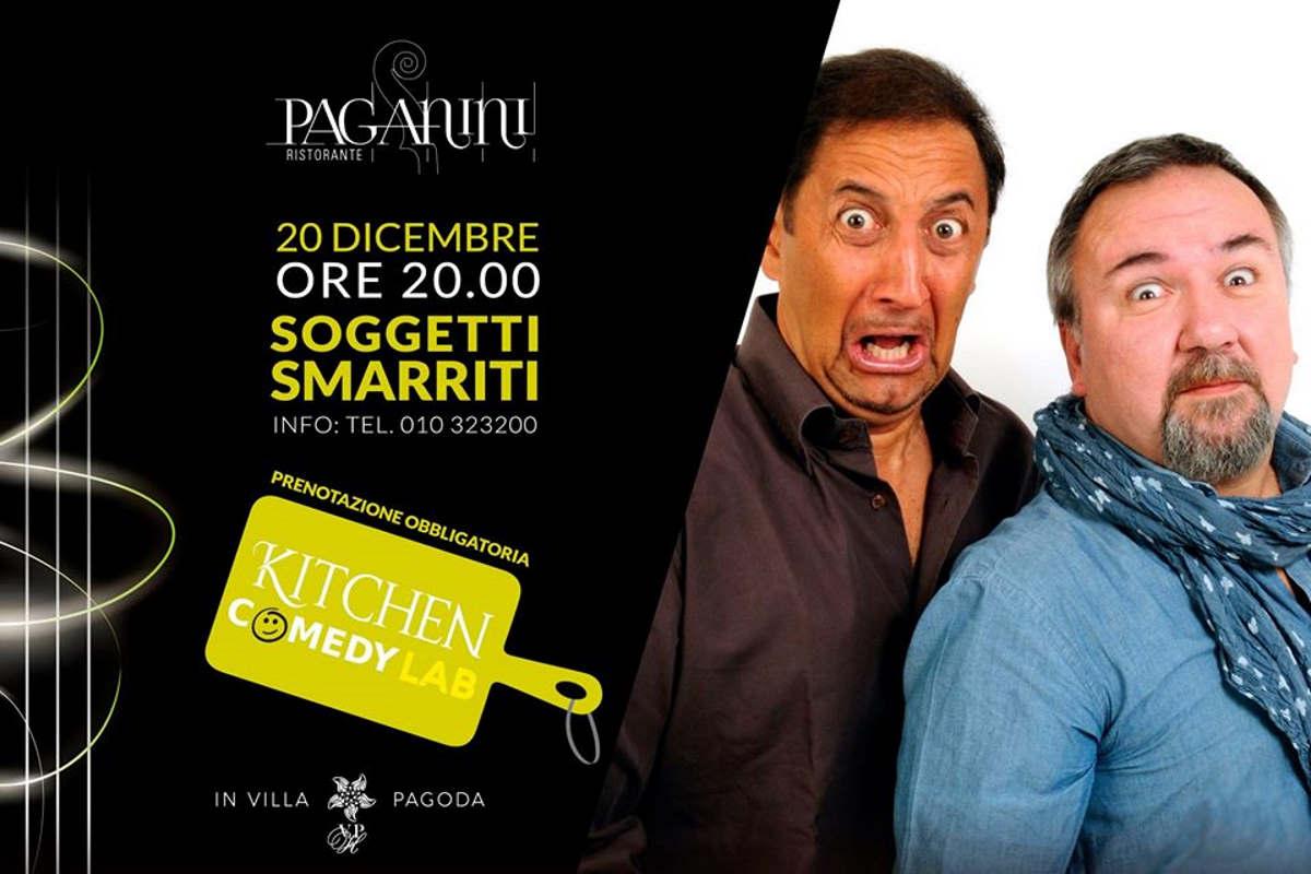 I Soggetti Smarriti sfidano lo chef Giuseppe Gentile in Kitchen&Comedy Lab a Villa Pagoda