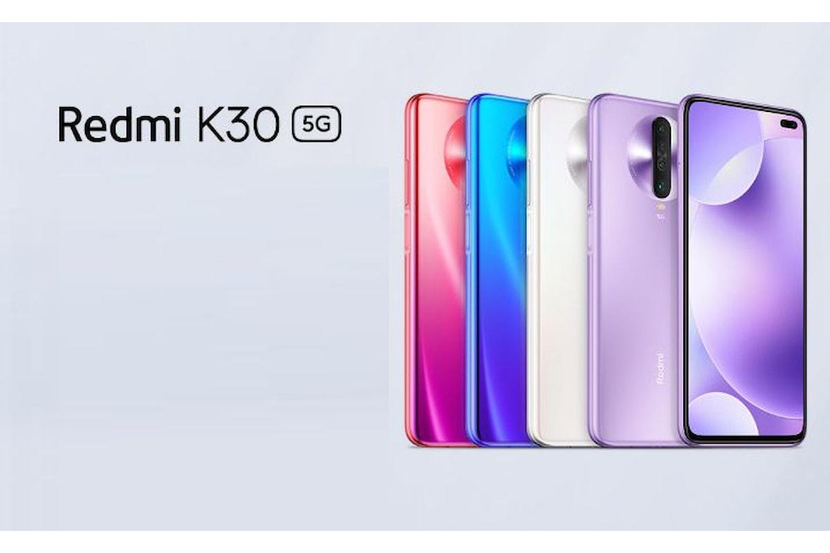 Redmi K30 e Redmi K30 5G presentati ufficialmente: anche la fascia media ha il suo smartphone 5G