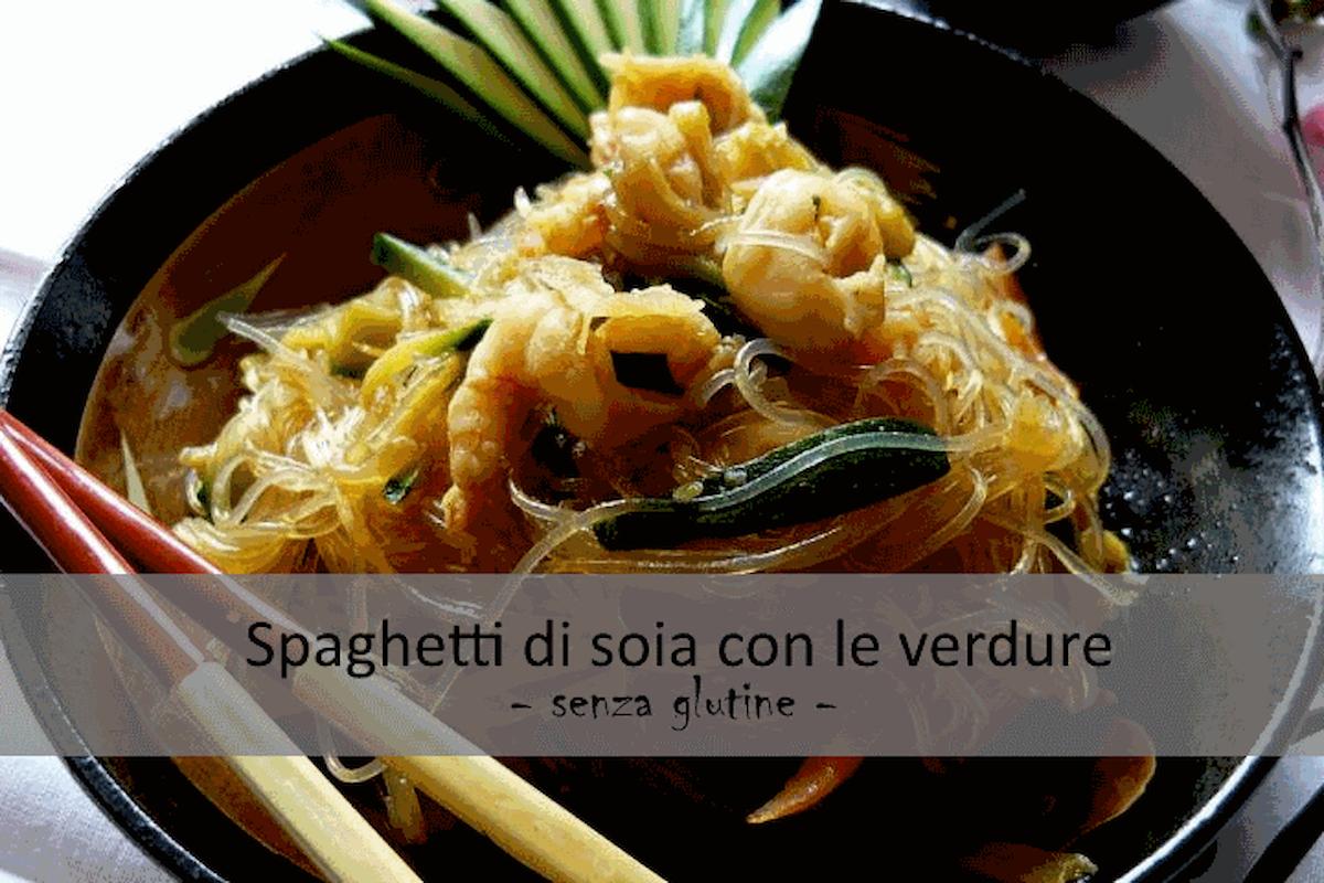 Ricetta senza #Glutine: Spaghetti di soia con le verdure