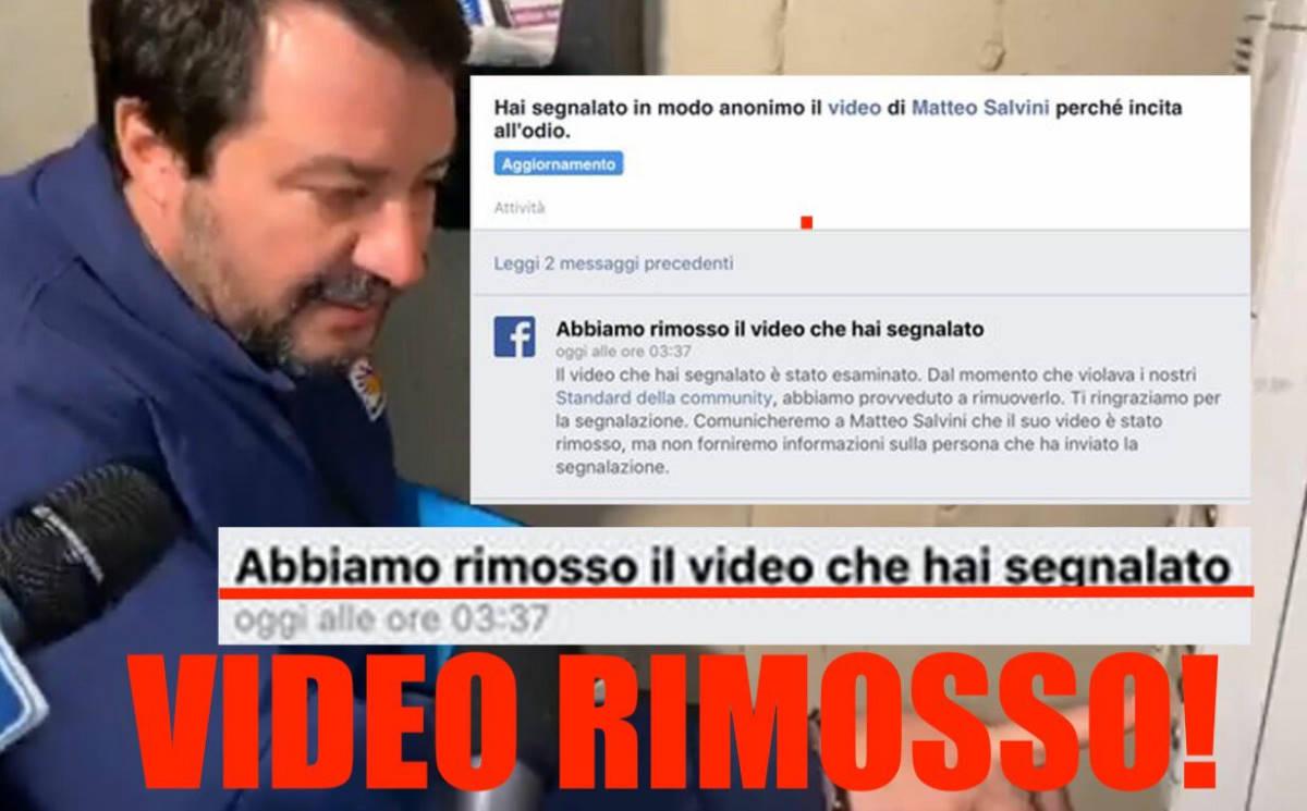 Facebook cancella il video della citofonata di Salvini di cui era stata richiesta la rimozione per incitamento all'odio