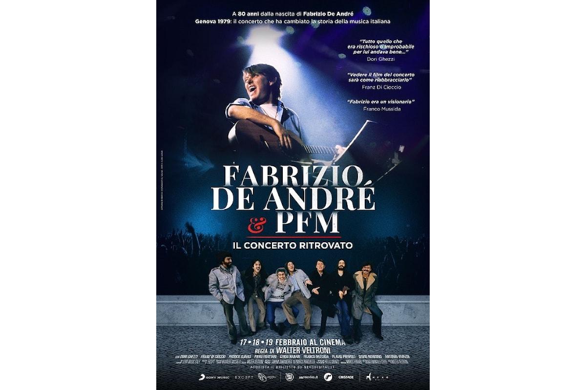 Fabrizio De André e PFM, una data importante, un racconto straordinario, un evento imperdibile: il concerto ritrovato