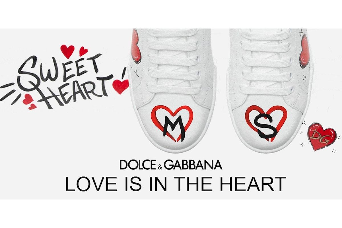 A San Valentino InVoga Magazine consiglia le Sneakers personalizzate della Dolce & Gabbana