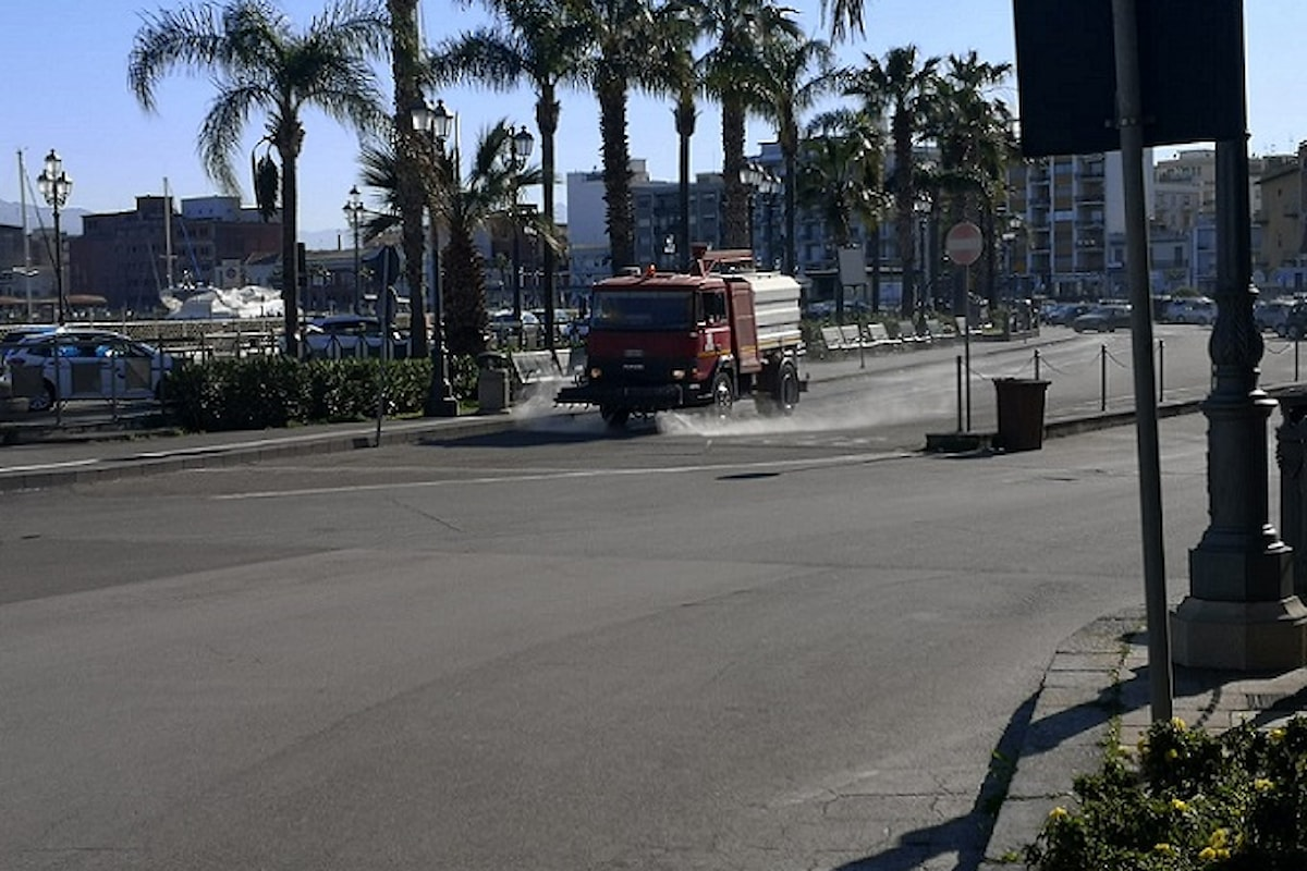 Milazzo (ME) - Prosegue la sanificazione del territorio municipale