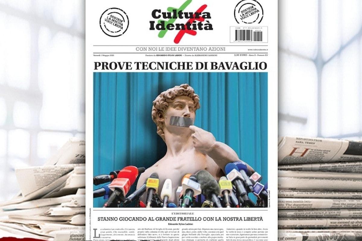 Il nuovo numero di CulturaIdentità da venerdì 1 maggio in edicola