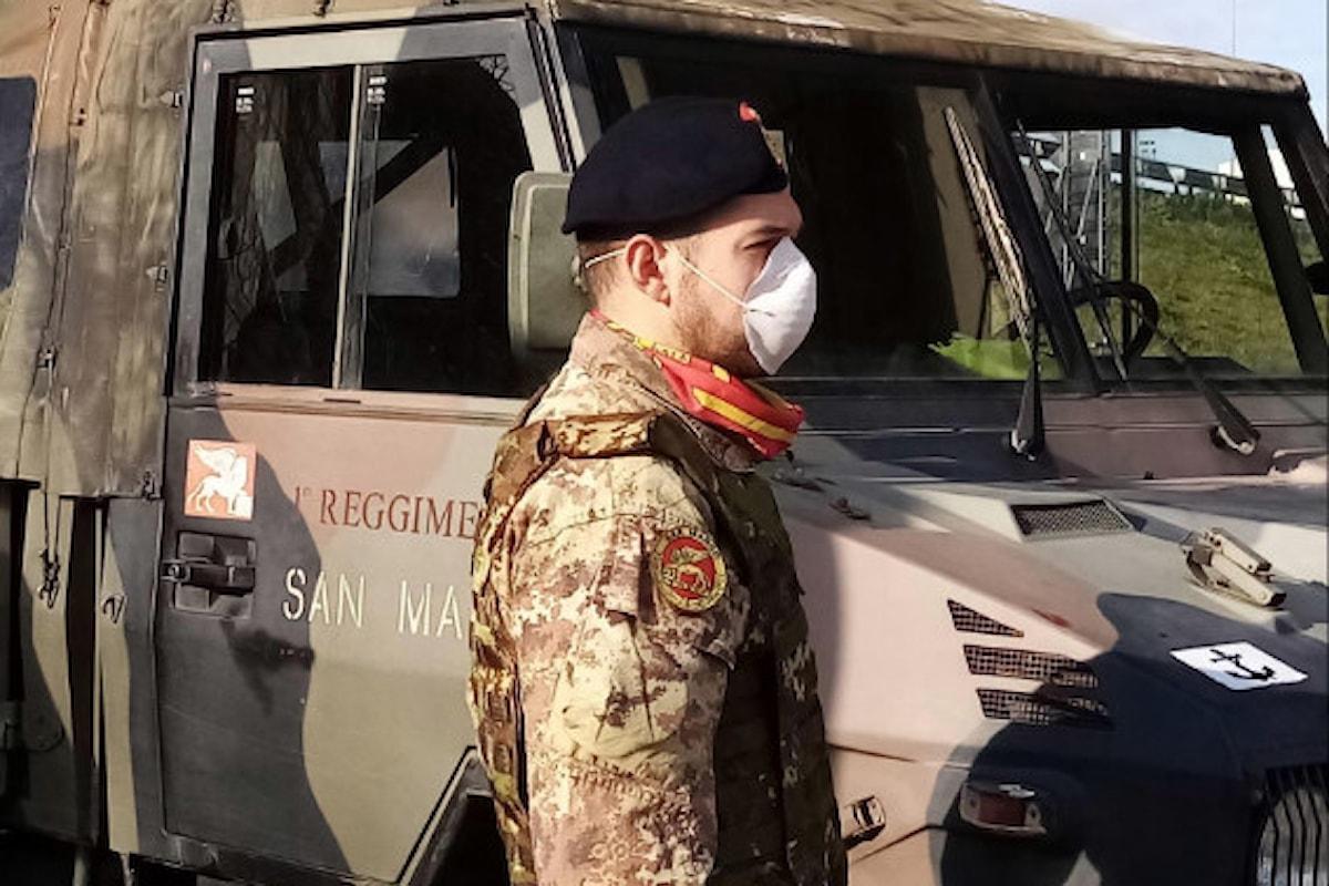 Brindisi: i Fucilieri del S.Marco in azione nel contrasto al coronavirus