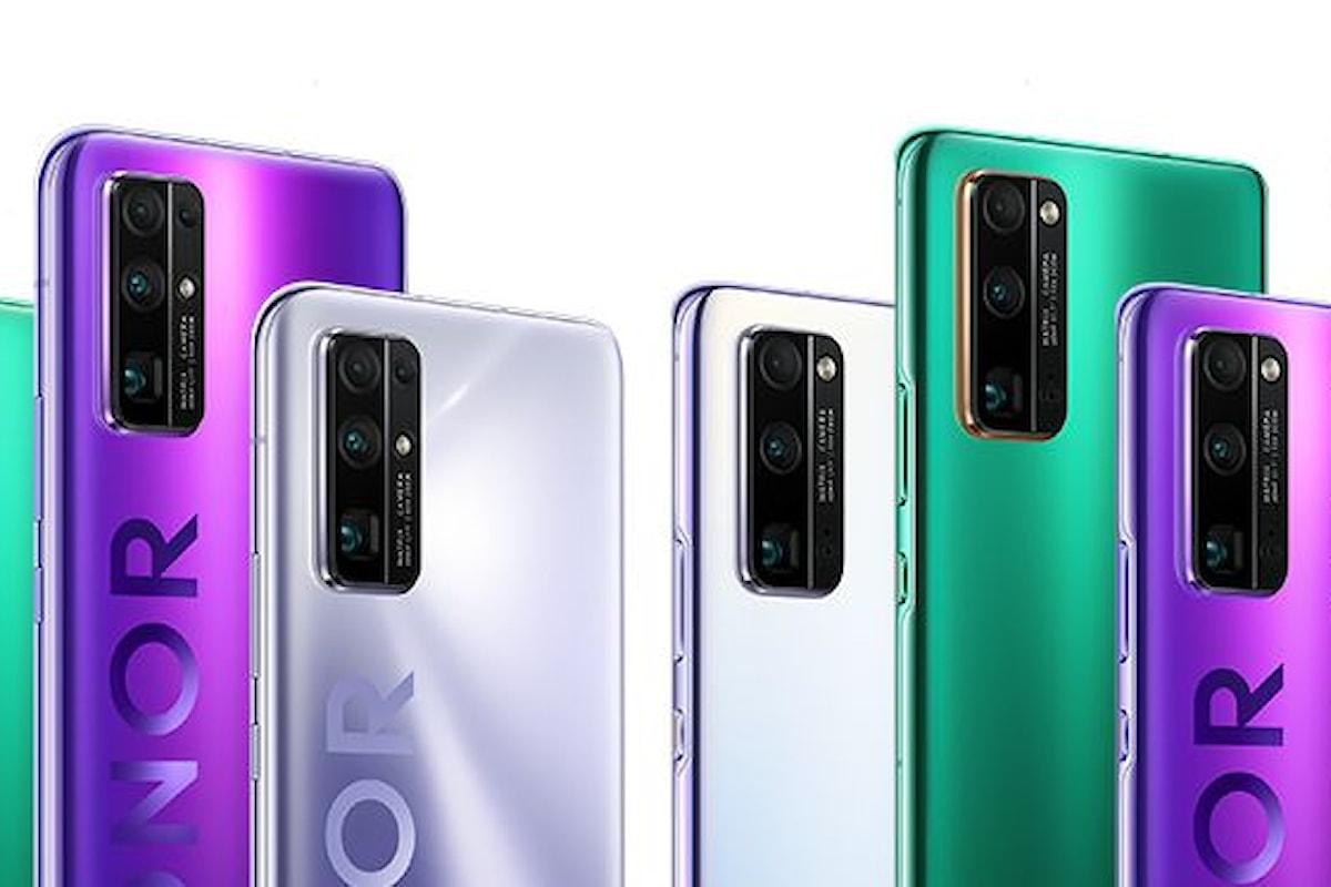 Honor 30, Honor 30 Pro e Honor 30 Pro+ sono stati presentati ufficialmente: quasi del tutto identici ai Huawei P40