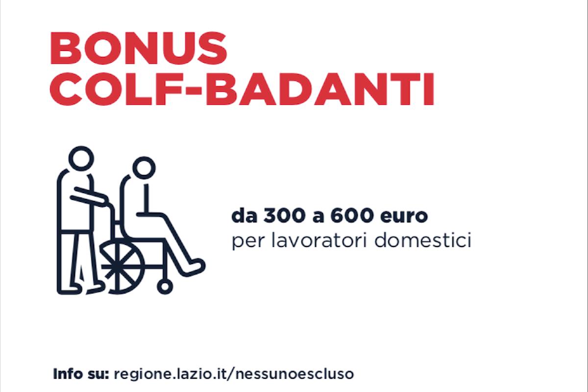 Bonus Lavoratori Domestici. Dal 5 Maggio al via i Bonus della Regione Lazio.