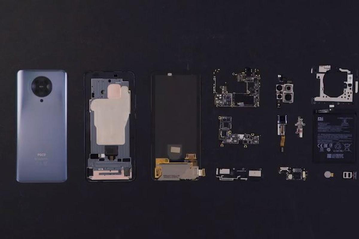 Ecco il teardown del POCO F2 Pro in un video che mostra come è fatto il nuovo smartphone di POCO