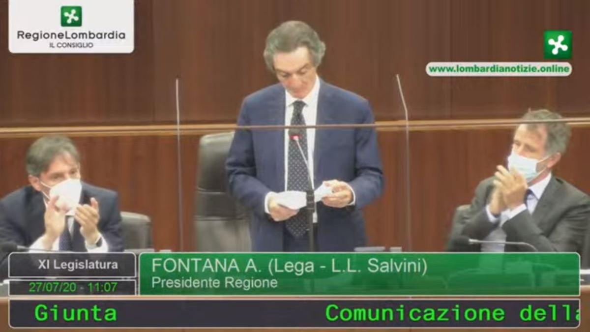 Ecco come Fontana non ha spiegato le ricostruzioni da lui definite false della vicenda dei camici