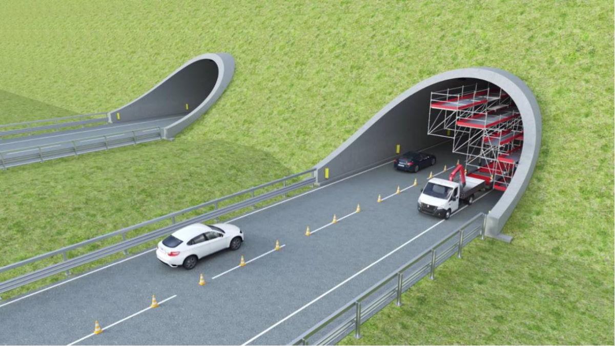 """Un ponteggio """"in movimento"""" che non ferma il traffico stradale. Tempi e costi di lavoro abbattuti anche del 30%"""