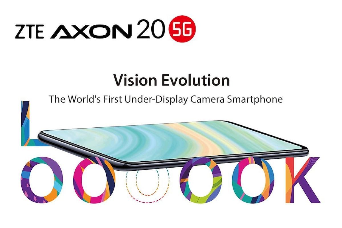 ZTE AXON 20 5G è stato presentato ufficialmente: il primo smartphone con la fotocamera integrata sotto il display