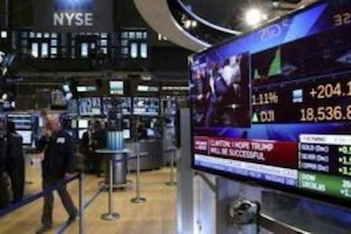 Azionario, neppure le trimestrali riescono a dare smalto a Wall Street