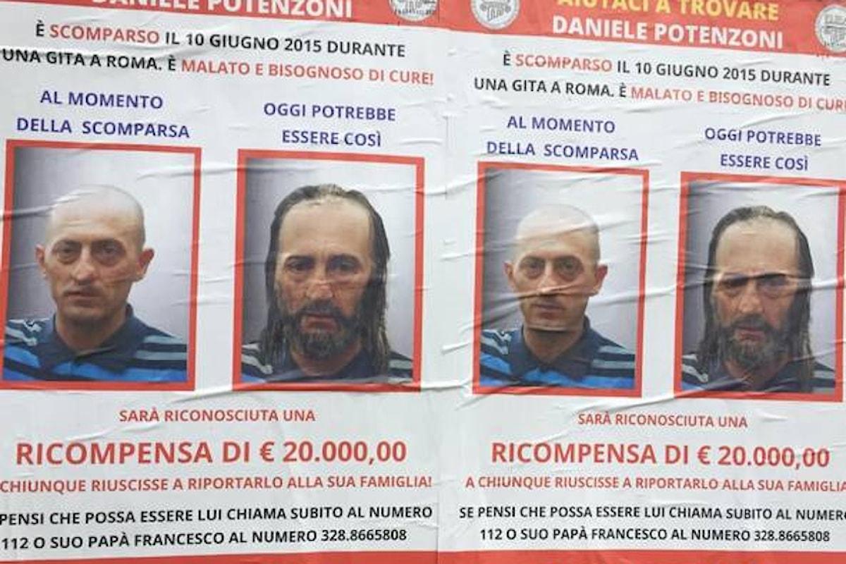 Daniele Potenzoni, l'uomo bambino sparito
