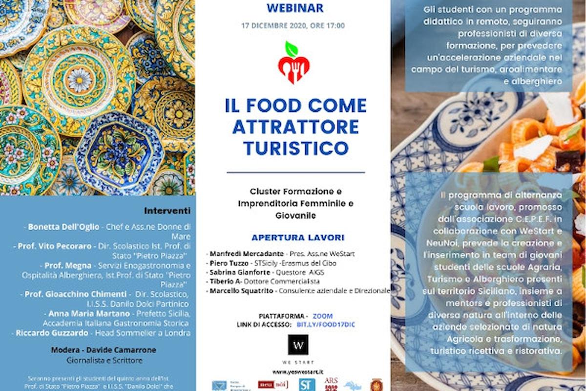 """""""Il food come attrattore turistico"""" - 17 dicembre 2020, Evento organizzato da WeStart"""