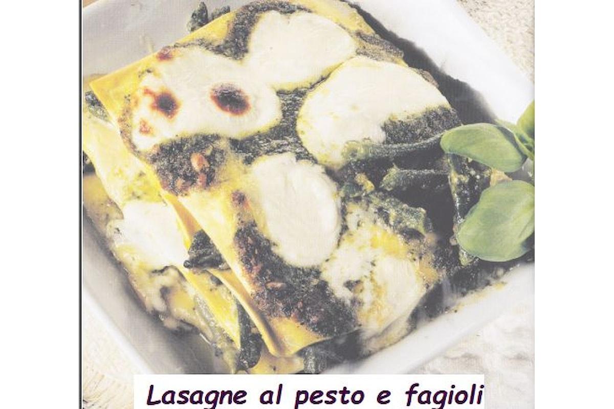 Ricetta regionale dell'Oltrepò Pavese, Lasagne al pesto e fagioli