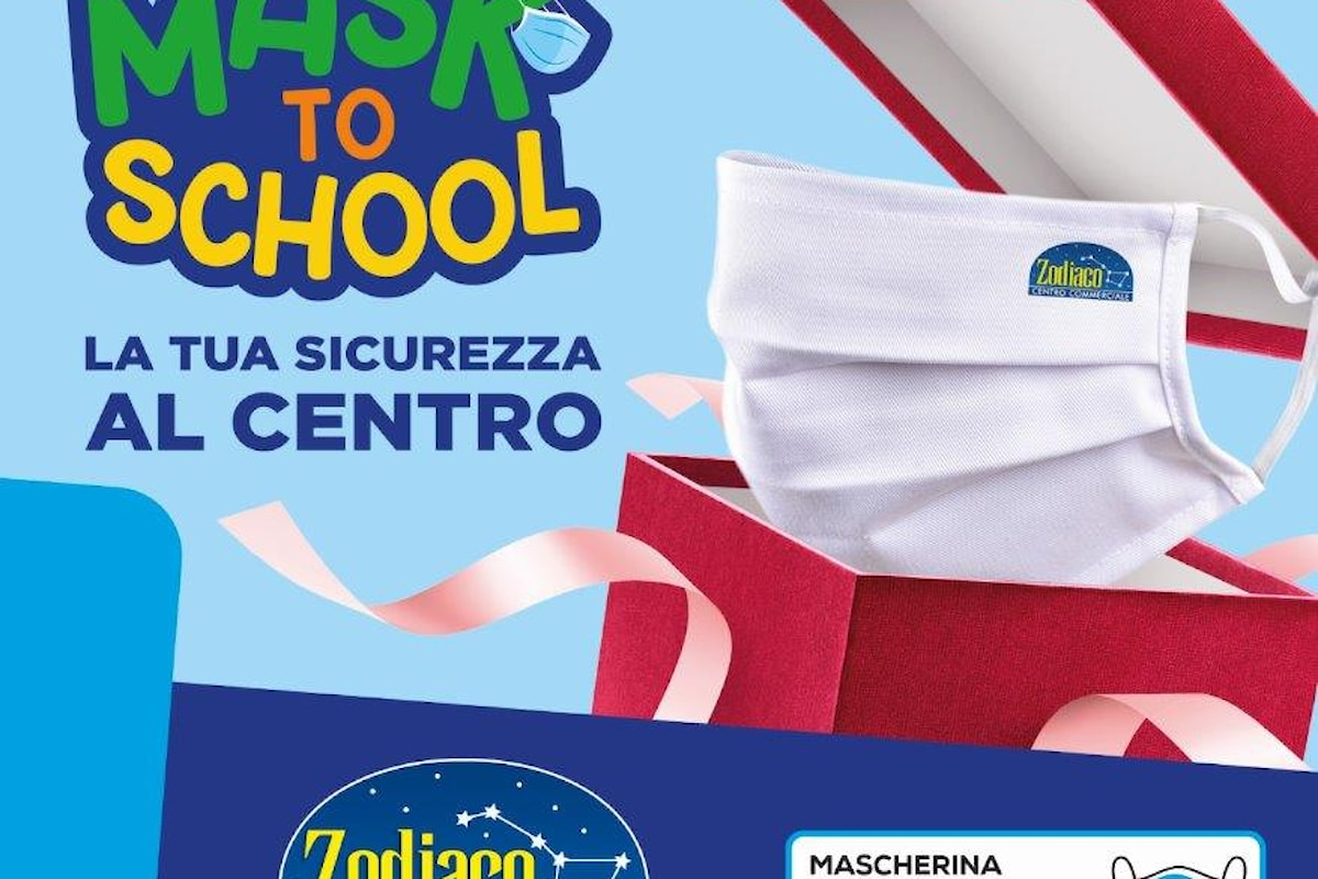 """Anzio - Il Centro Commerciale Zodiaco presenta """"MASK TO SCHOOL"""""""
