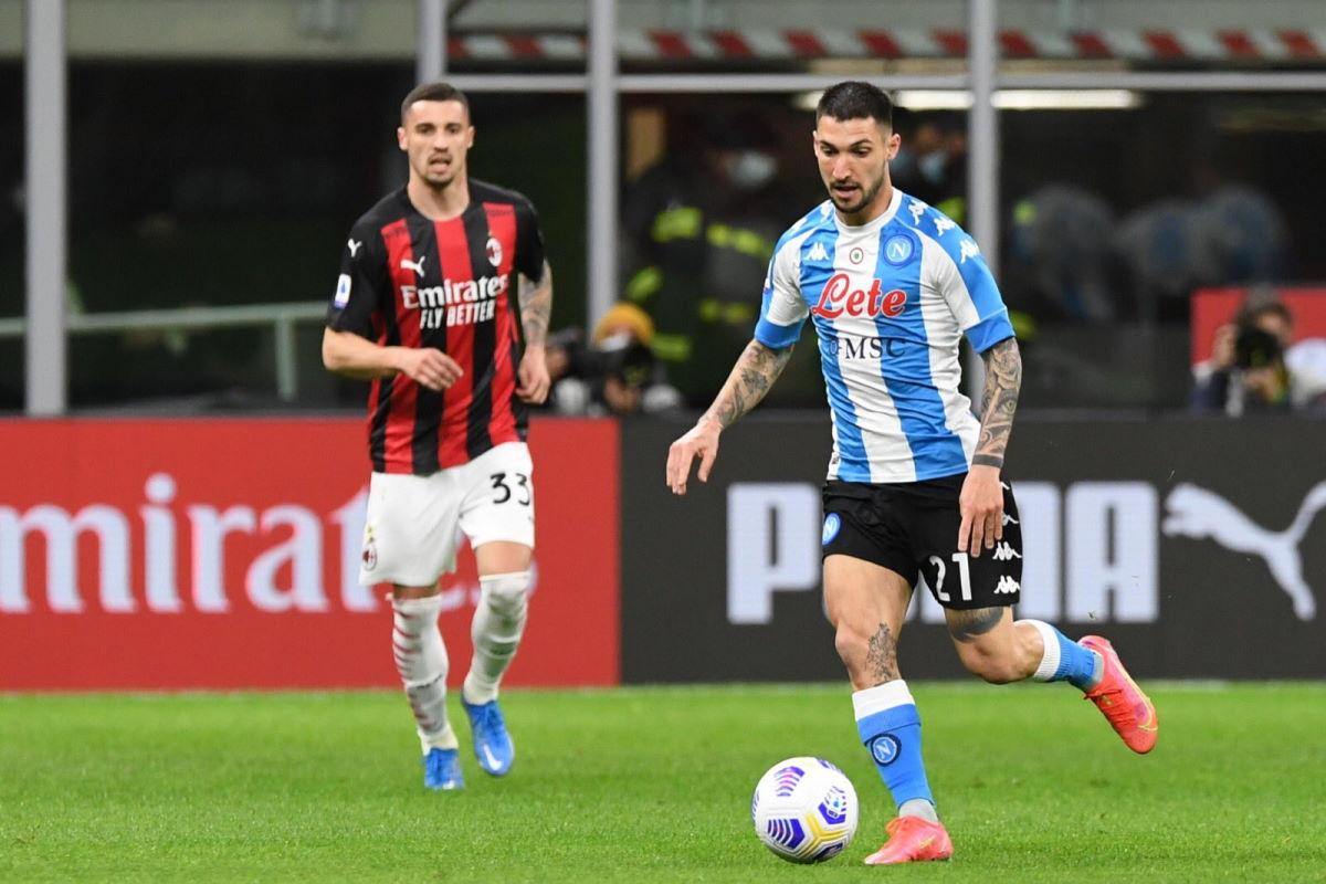 Serie A, il Milan sconfitto dal Napoli a San Siro per 0-1
