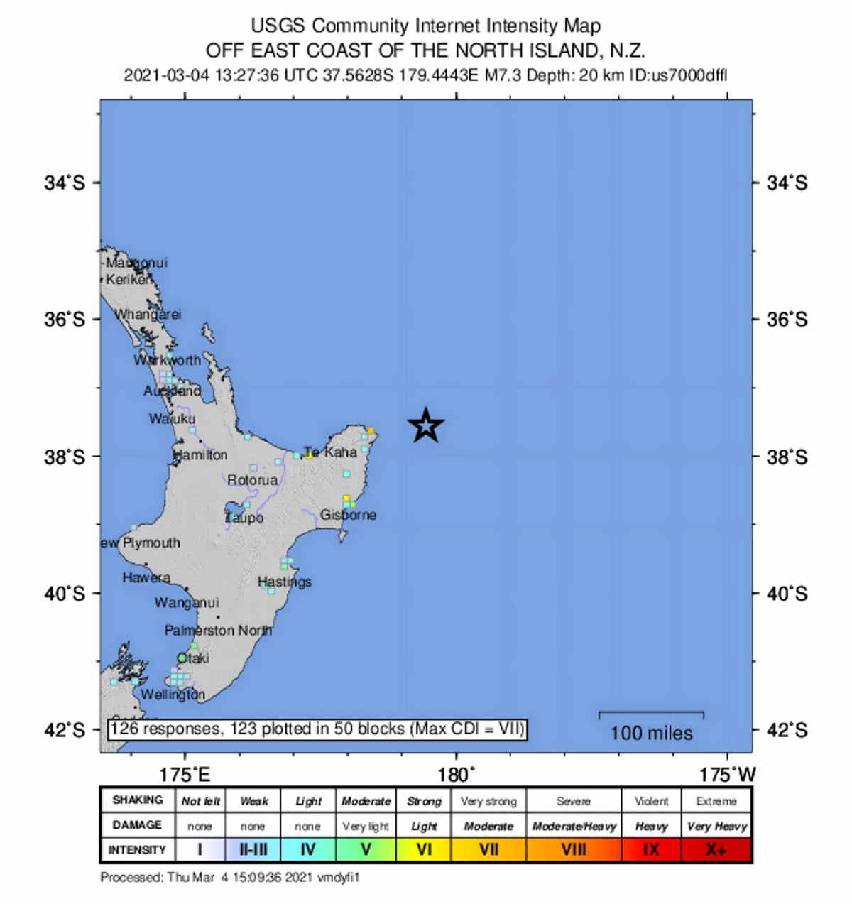 Forte scossa di terremoto di magnitudo 7.3 in Nuova Zelanda: allerta tsunami in corso