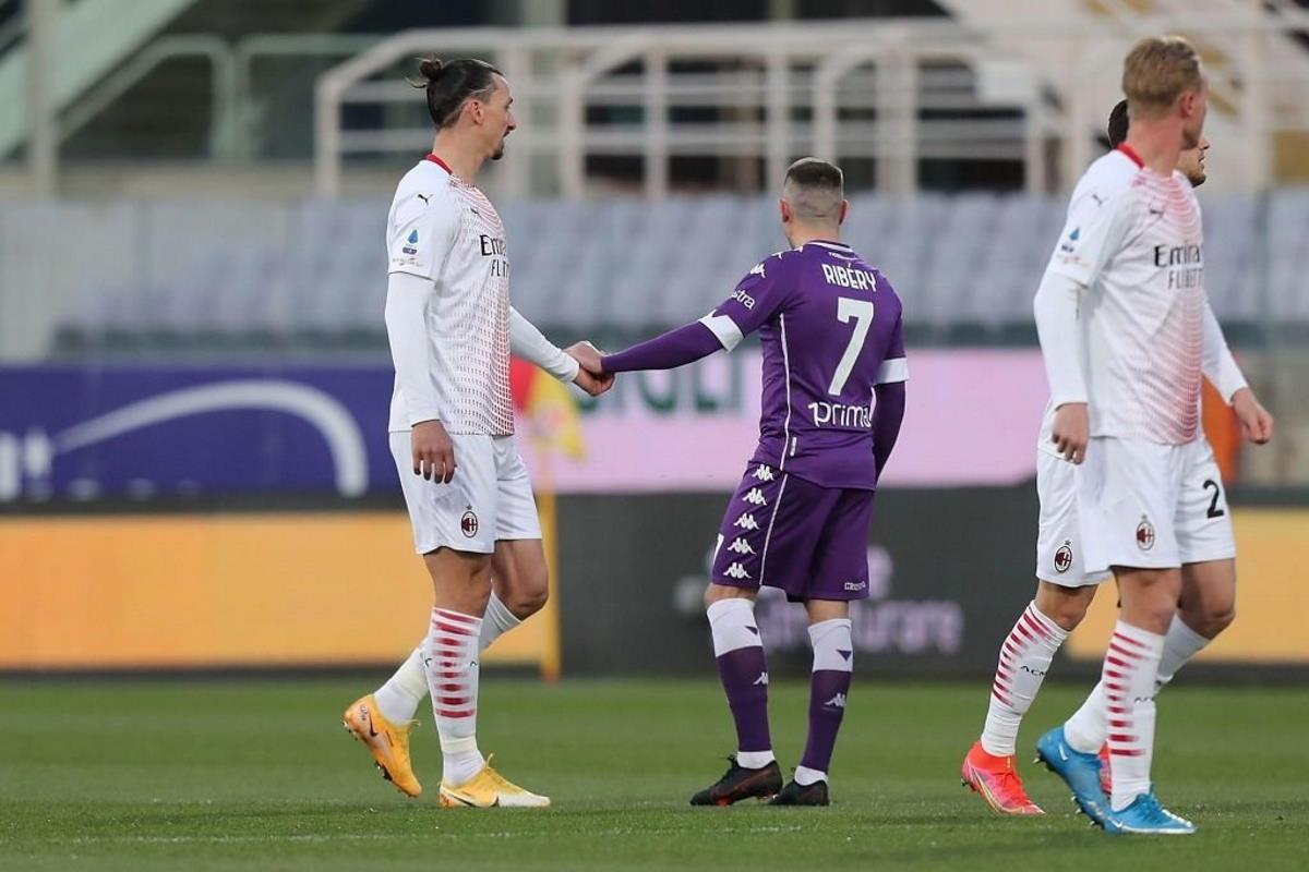 28/a giornata di Serie, il Milan batte la Fiorentina 2-3 al Franchi