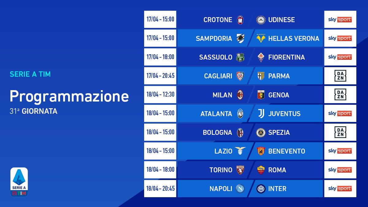 Tre i match clou della 31.a giornata della Seria A 2020/2021