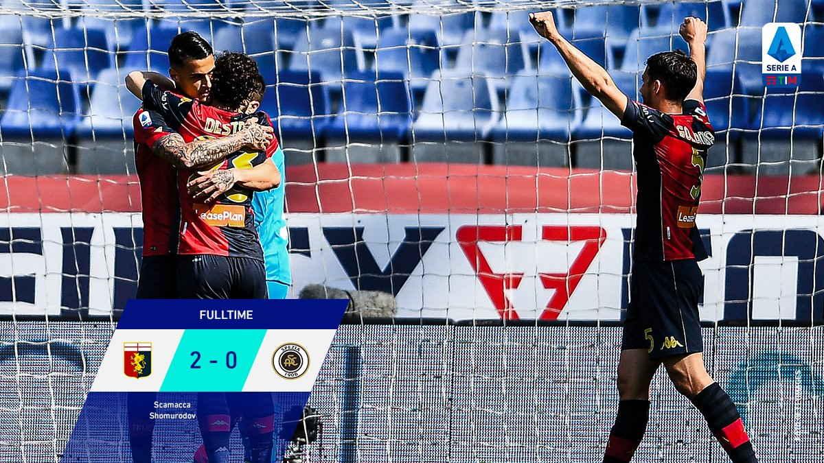 Serie A: negli anticipi della 33.a giornata il Genoa inguaia lo Spezia, vittoria inutile del Crotone sul Parma