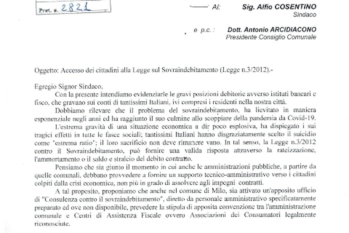 Accesso alla Legge sul Sovraindebitamento (Legge 3/2012)