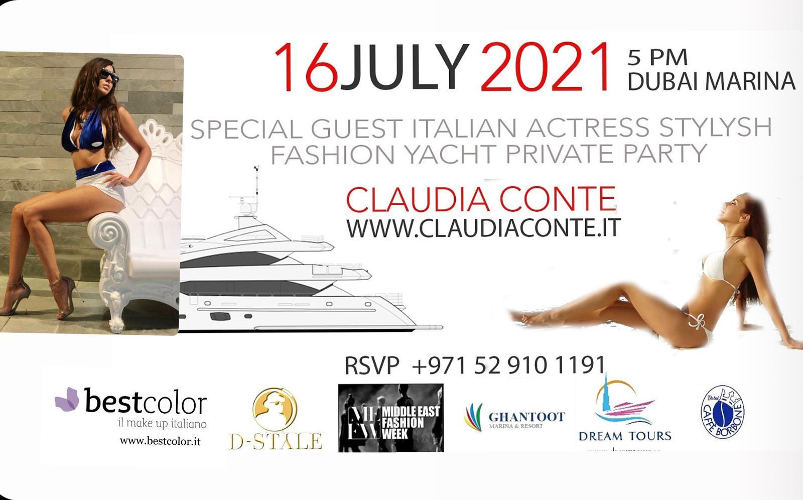 Claudia Conte debutta come stilista sulla passerella internazionale di Dubai