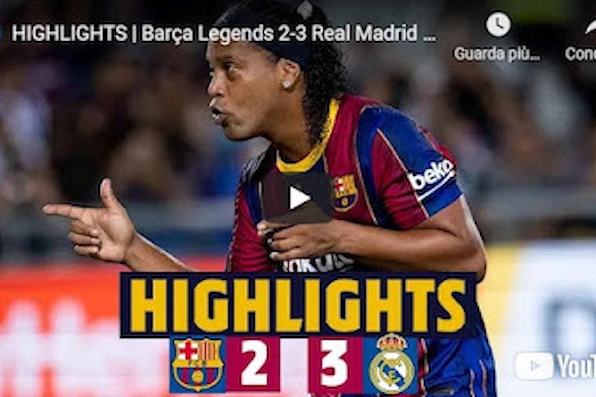 VIDEO - HIGHLIGHTS | Barça Legends 2-3 Real Madrid Leyendas