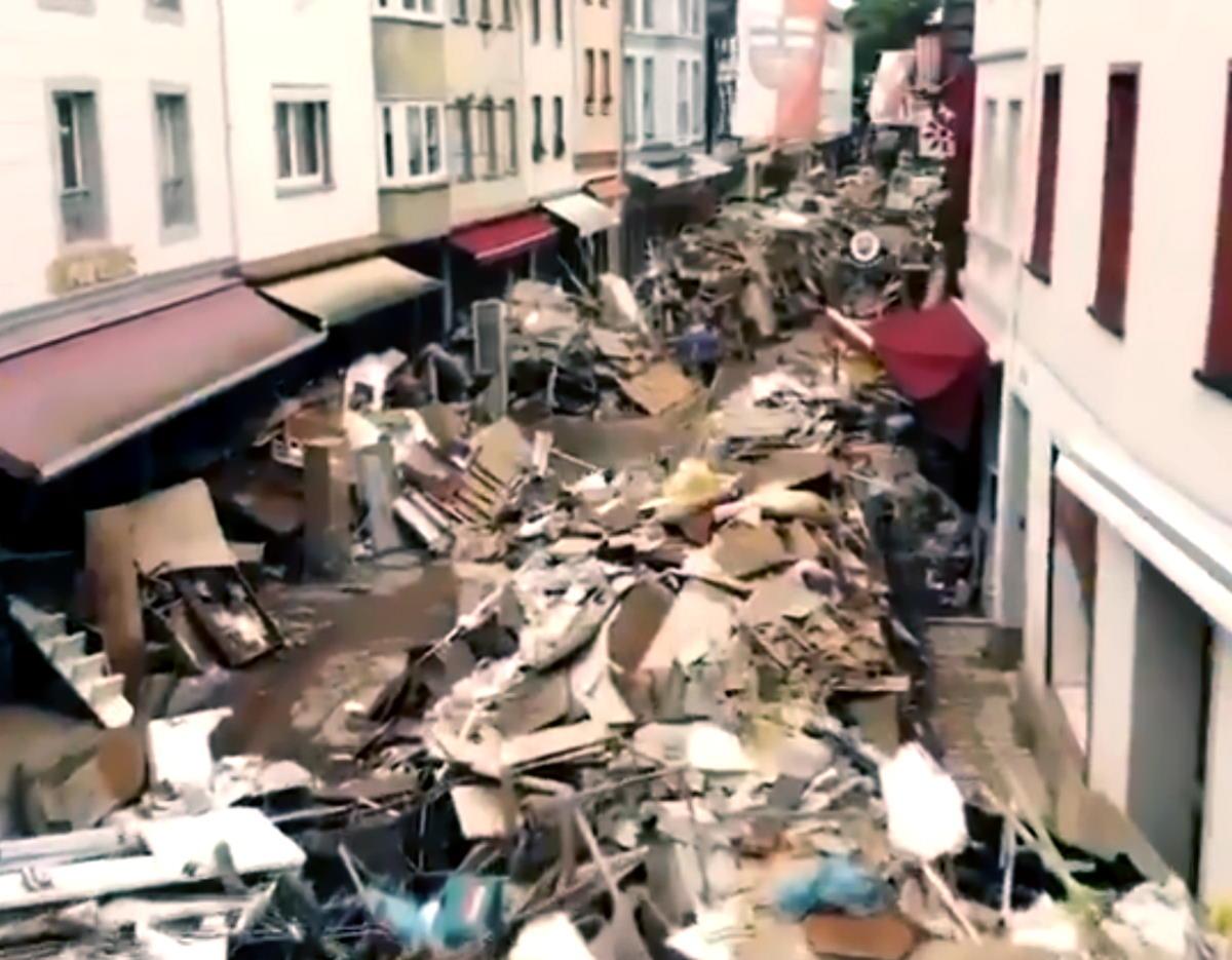 Gravissimi i danni in Germania causati dal maltempo con molte delle vittime che avrebbero potuto essere evitate