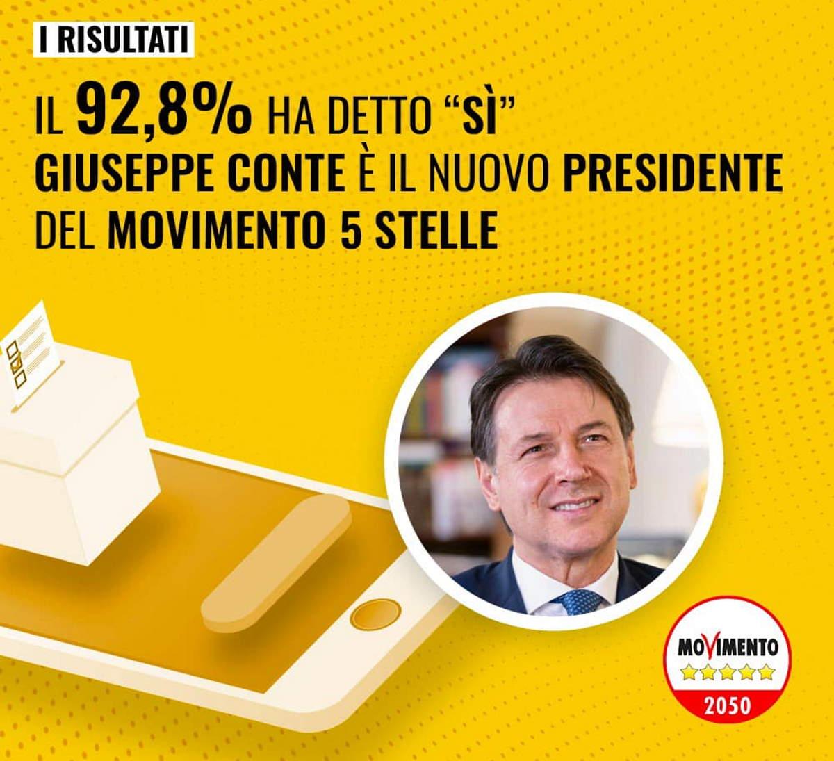 Con l'elezione di Conte a presidente il MoVimento 5 Stelle diventa (finalmente) un partito