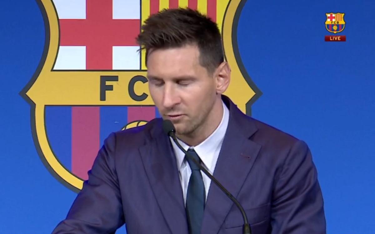 Messi dice ufficialmente addio al Barcellona ma non conferma che il prossimo anno giocherà nel PSG