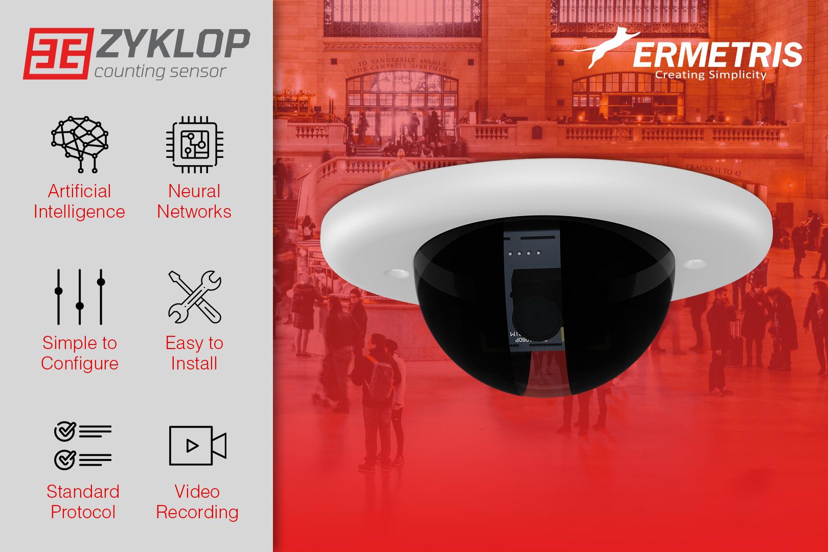 Ermetris lancia il suo nuovo prodotto, Zyklop - Automatic Passenger Counter