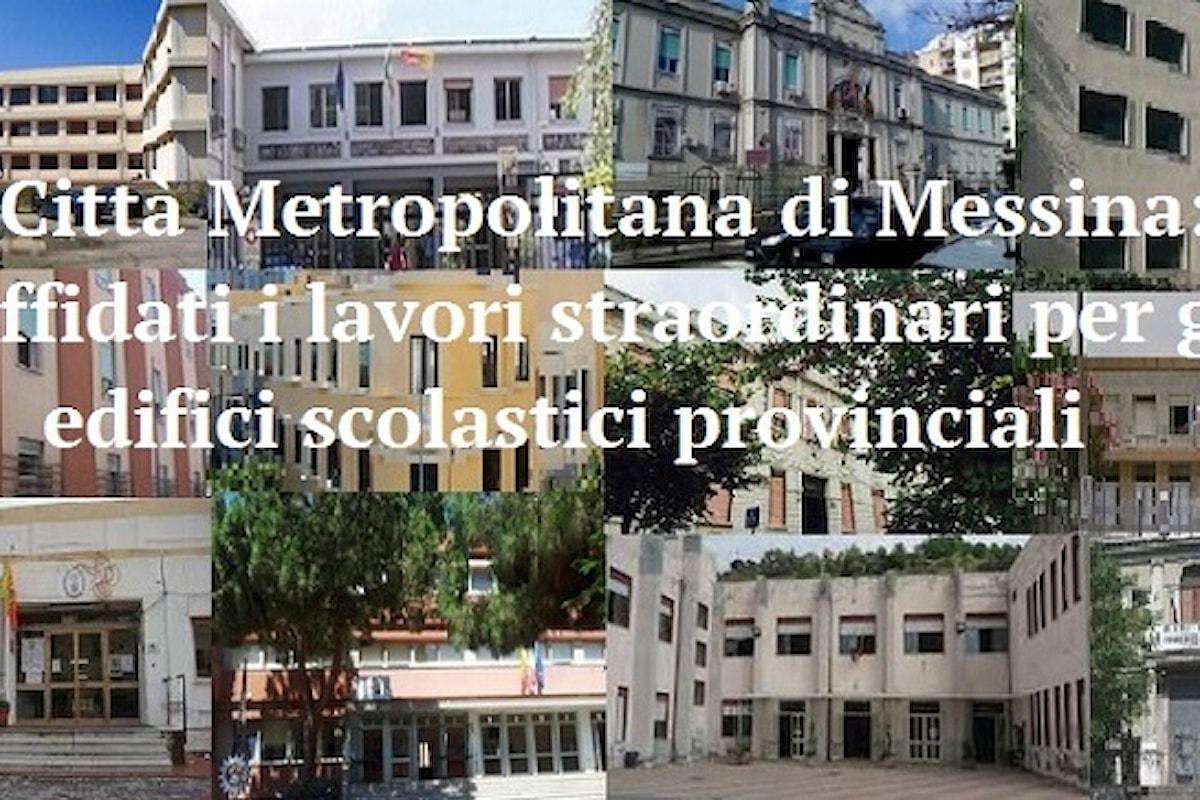 Città Metropolitana di Messina: affidati i lavori straordinari per gli edifici scolastici provinciali