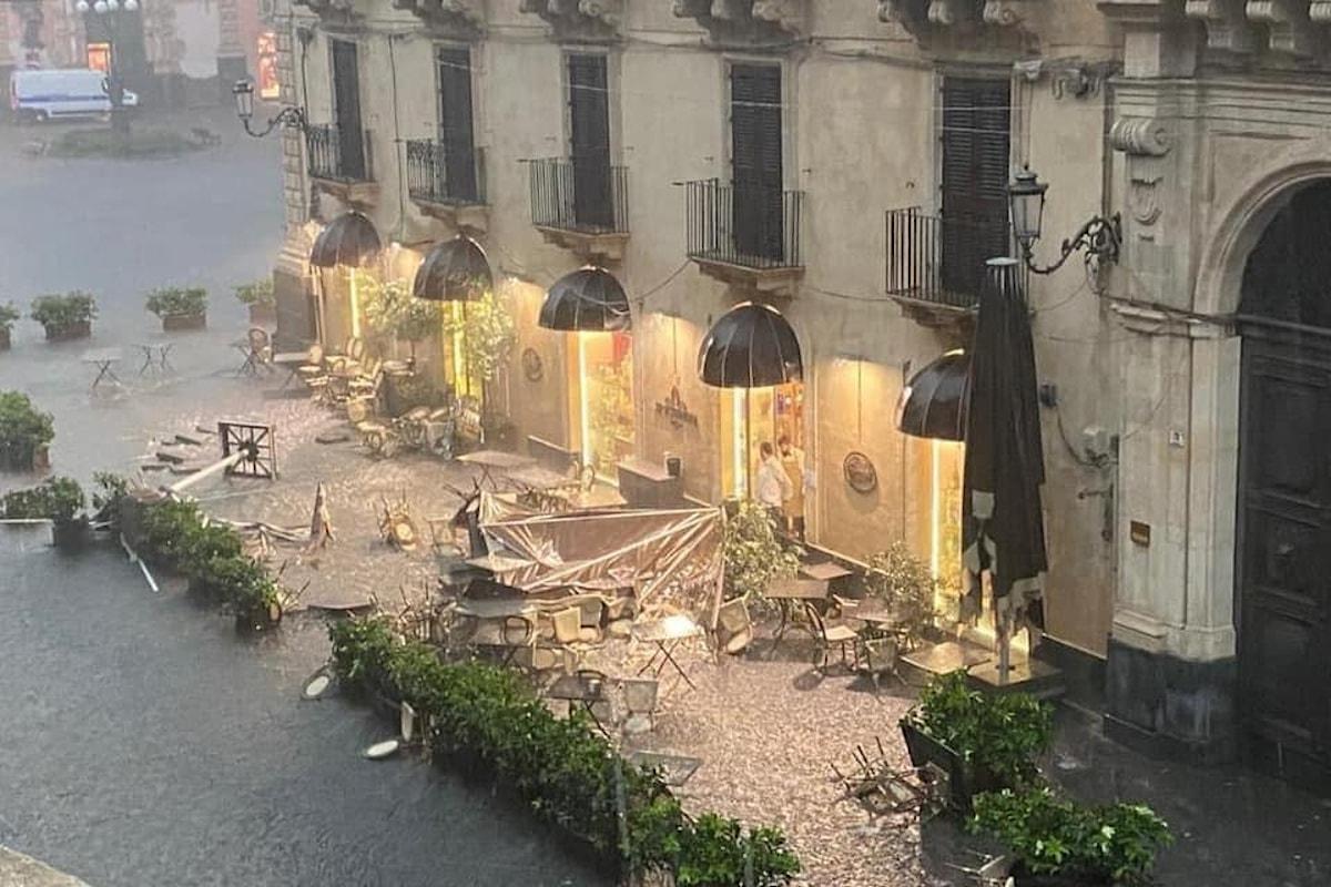 Violenti temporali e danni in Sicilia tra Catania e Palermo
